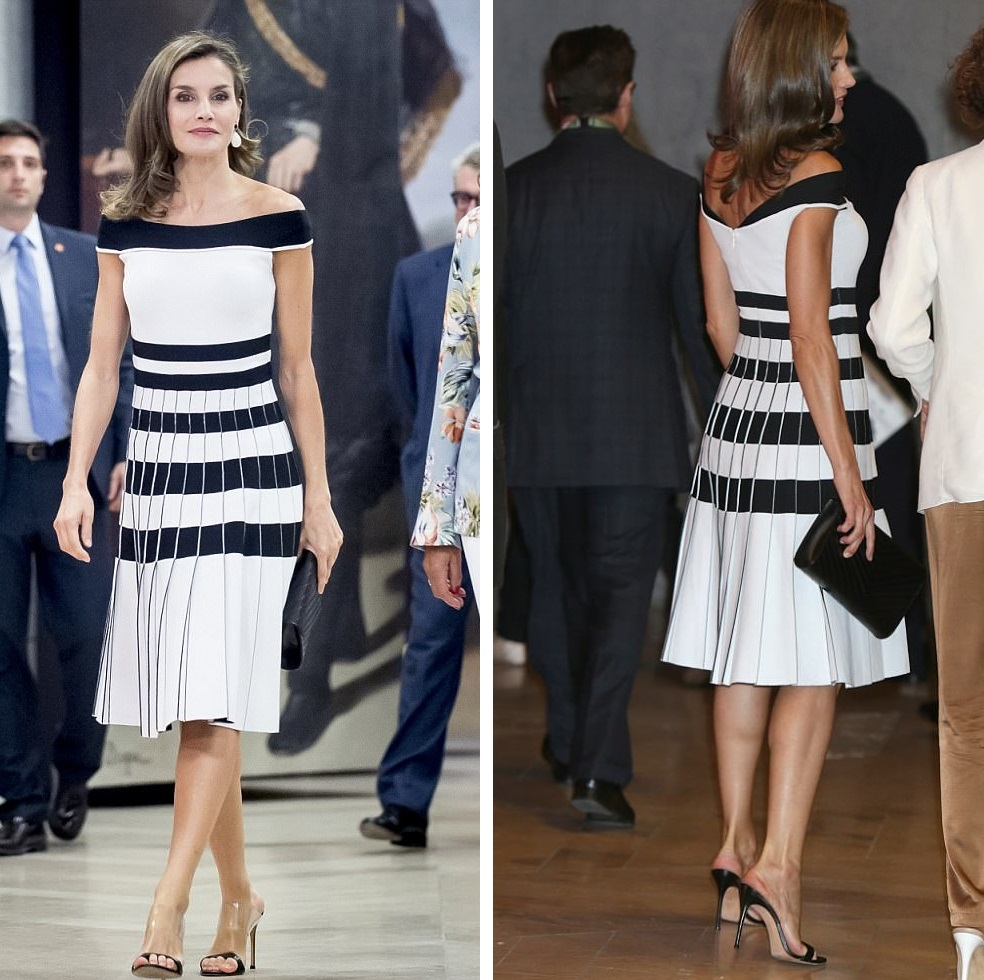Queen Letizia brought monochrome look back for ESMO 2017