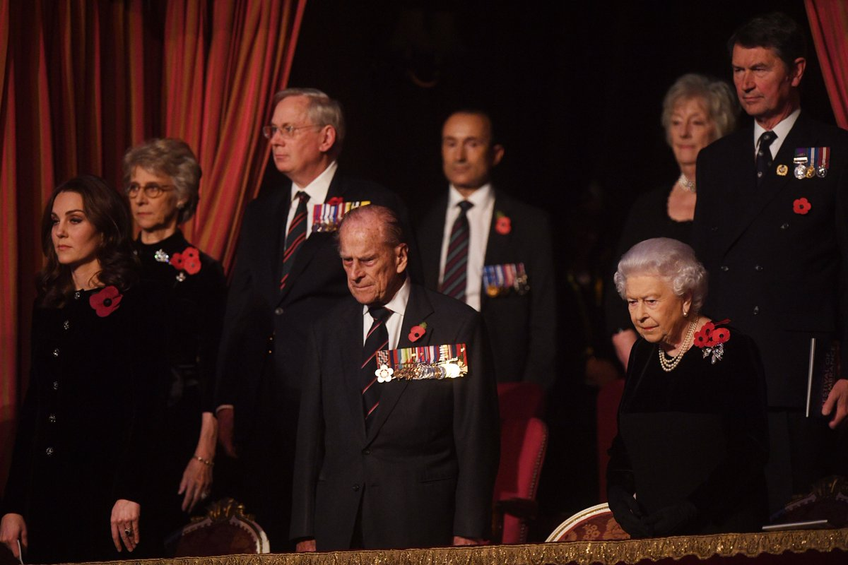 Duchess of Cambridge joined Her Majesty for the Festival of Remembrance