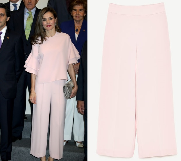 Queen Letizia rocked the trendy look of Zara at Foundation Meeting