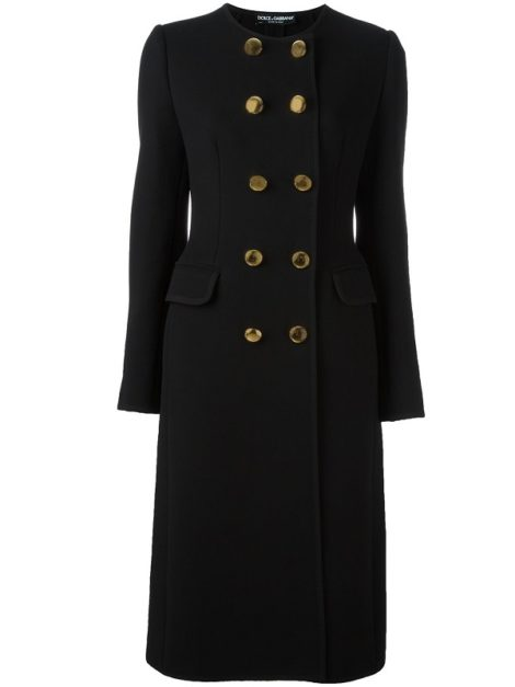 Dolce & Gabbana Crossover Button Coat