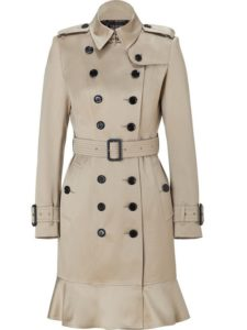 Burberry 'Littleton' Wool Trench Coat