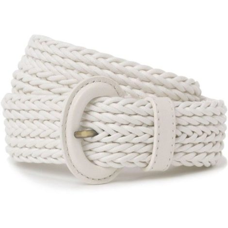 Hobbs 'Neston' White Braided Rope Belt