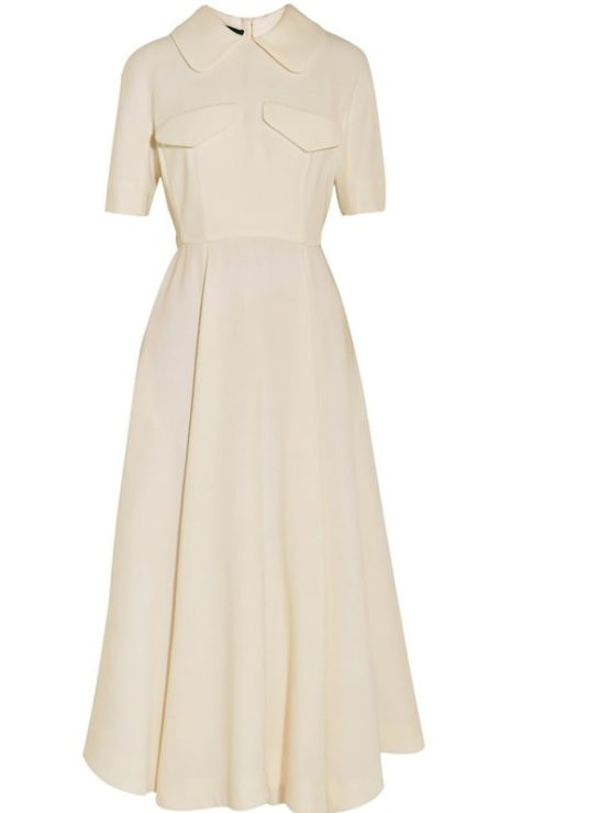 Emilia Wickstead Alice Short-Sleeved Wool Midi Dress