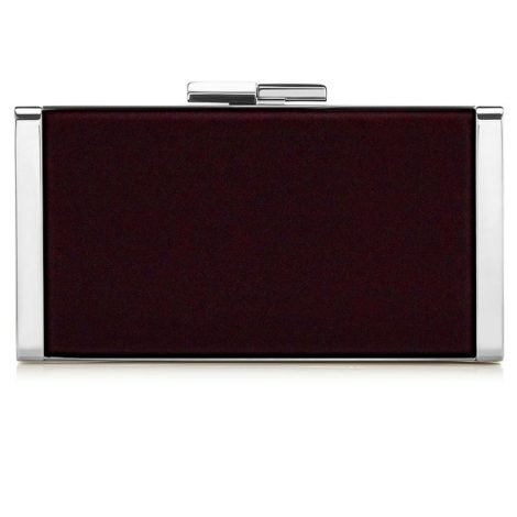 Jimmy Choo J Box Bordeaux Velvet Clutch