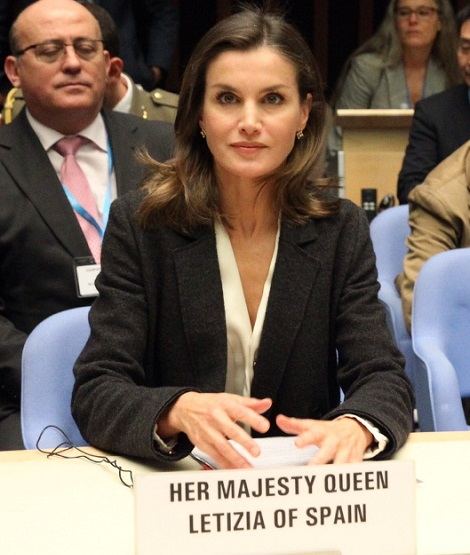Queen Letizia in Geneva for WHo Conference
