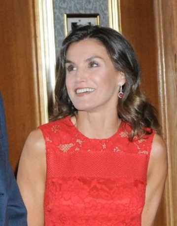 Queen Letizia and King Felipe received audience
