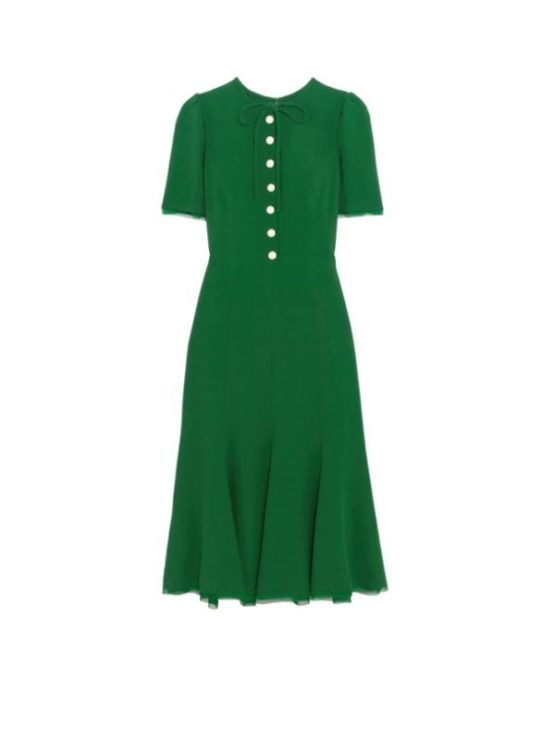 Dolce and Gabbana Green Midi Dress