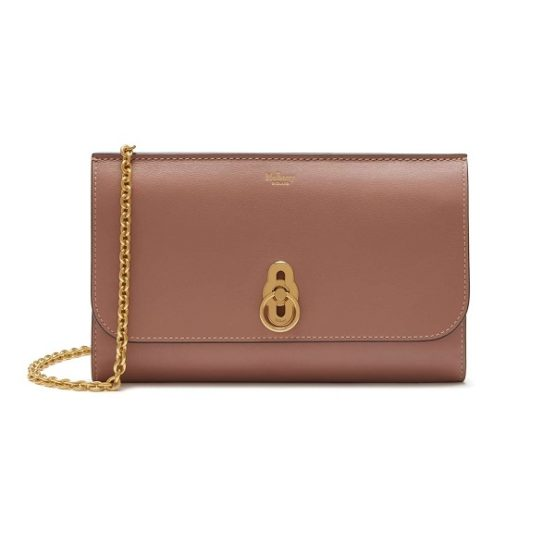 Mulberry Amberley Nude Blush Leather Clutch