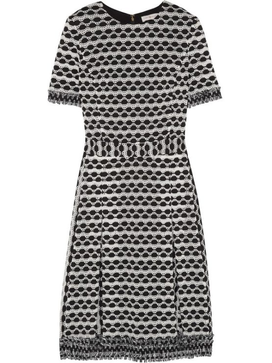 Tory Burch Paulina Open-Knit Dress