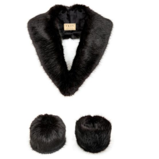 Troy London Faux Fur Collars and Cuffs