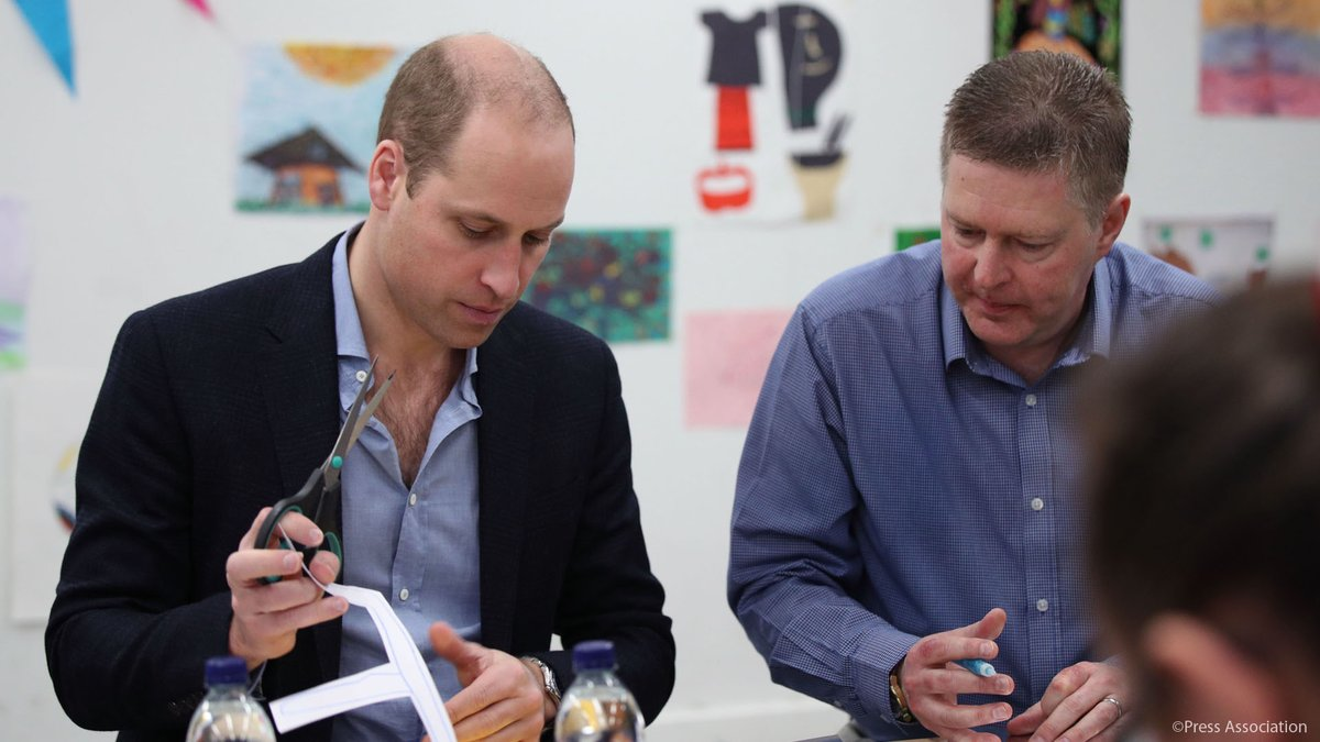 The Duke of Cambridge joined The Duchess of Cambridge at the Evelina London
