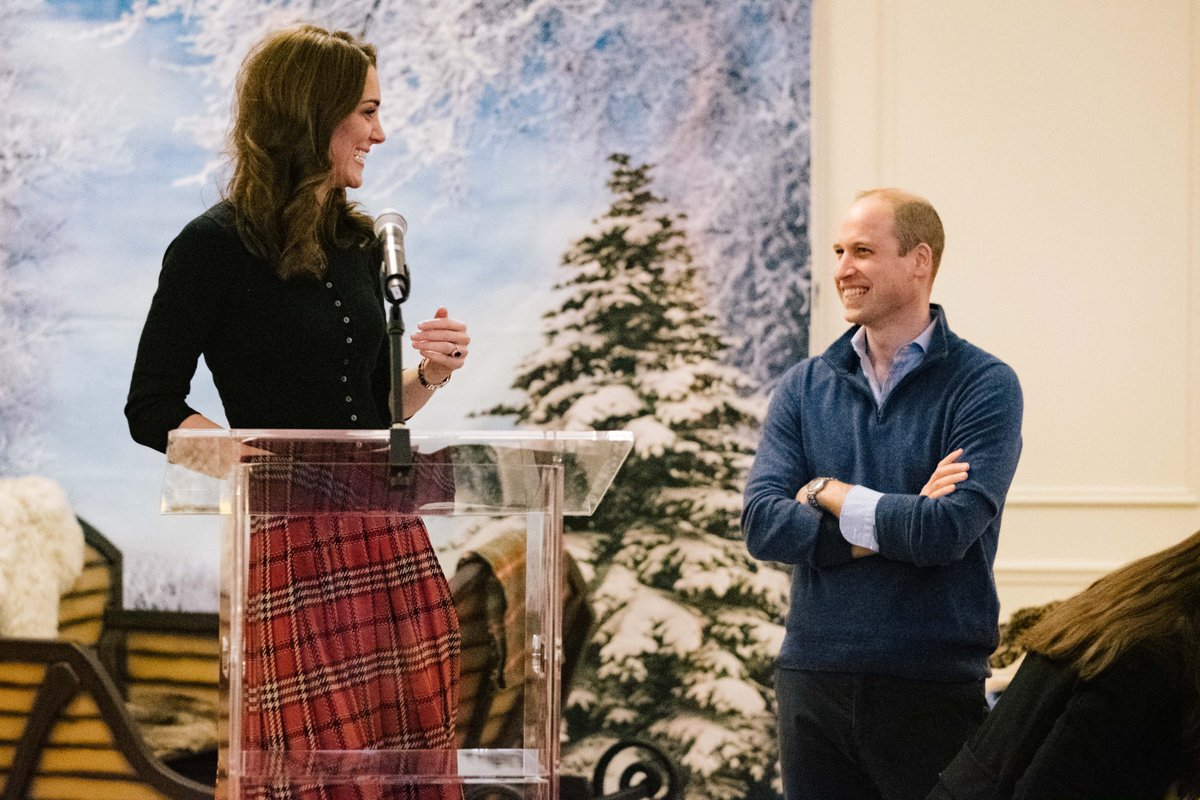 The Duchess of Cambridge gave a speech at the Christmas party for the familiies of armed forces