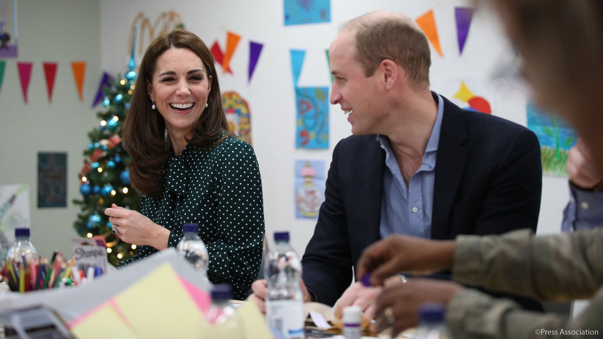 The Duke and Duchess of Cambridge at the Evelina London