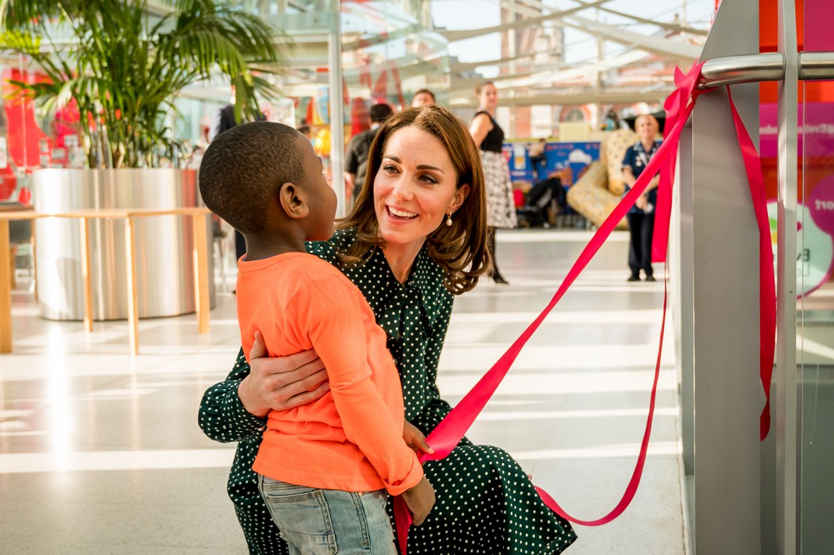 The Duchess of Cambridge visited Evelina London as the patron of the hospital