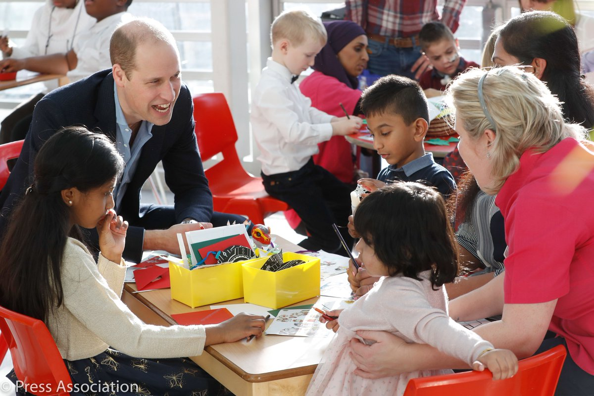 The Duke and Duchess of Cambridge visited Evelina London