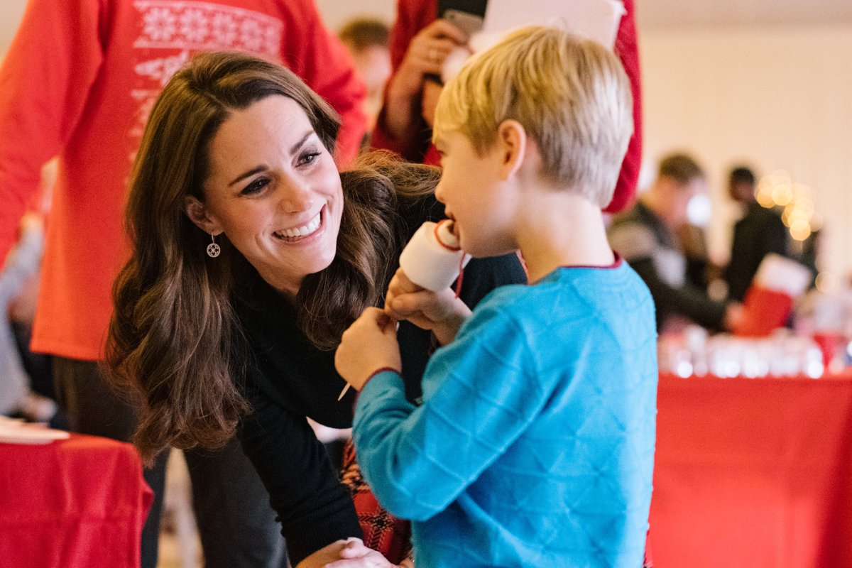 The Duke and Duchess of Cambridge hosted Christmas party for the familiies of armed forces