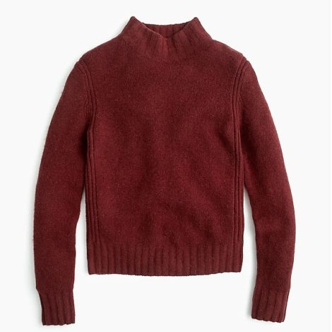 J. Crew Mockneck sweater in supersoft yarn
