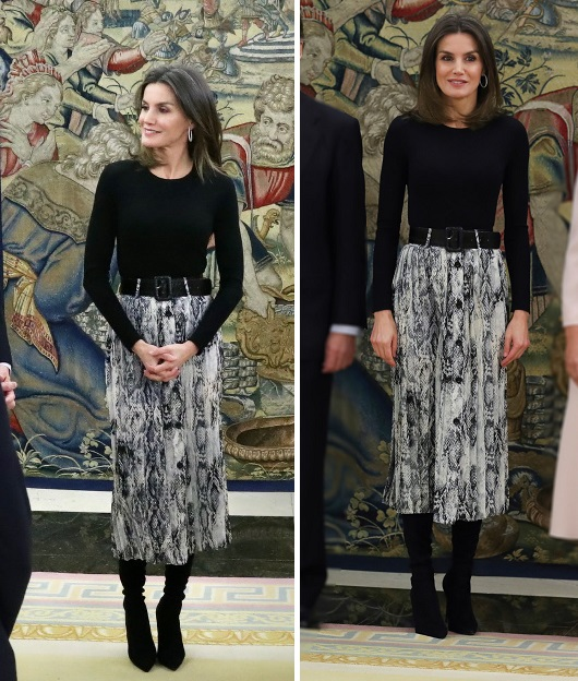 Queen Letizia of Spain Style for Palace audience