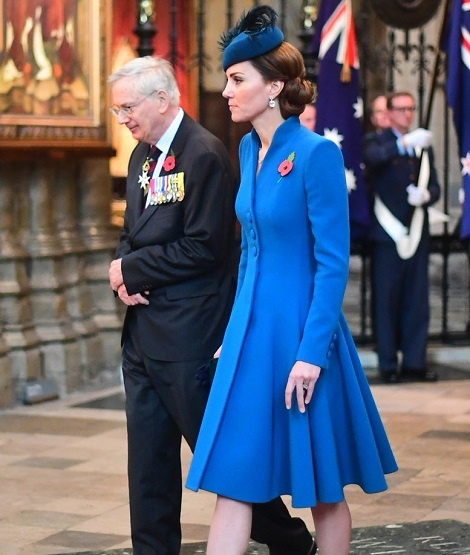 Duchess of Cambridge attended Anzac day service
