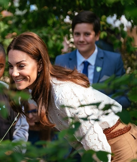 Duchess of Cambridge Made a Final Visit to Her Garden Before It Opens for Public