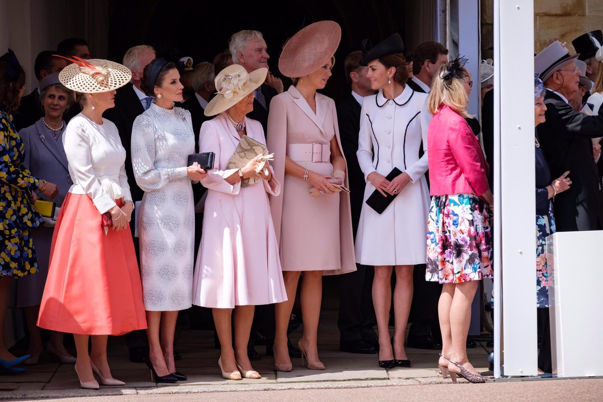 Queen Letizia and Duchess of Cambridge at Order of Garter Service