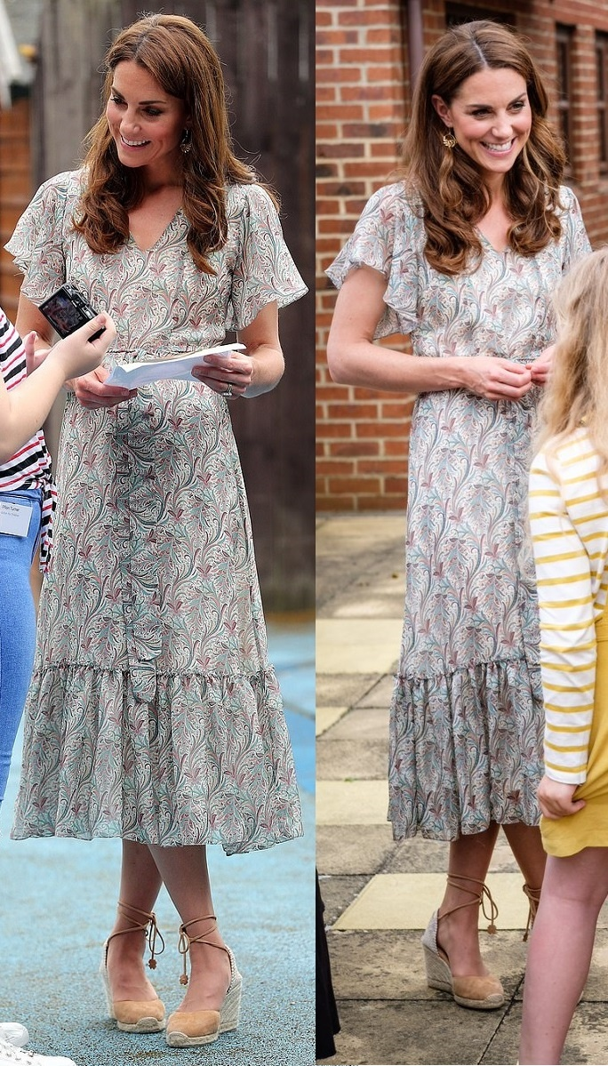 The Duchess of Cambridge became the royal patron of the Royal Photographic Society in Ridley London Dress