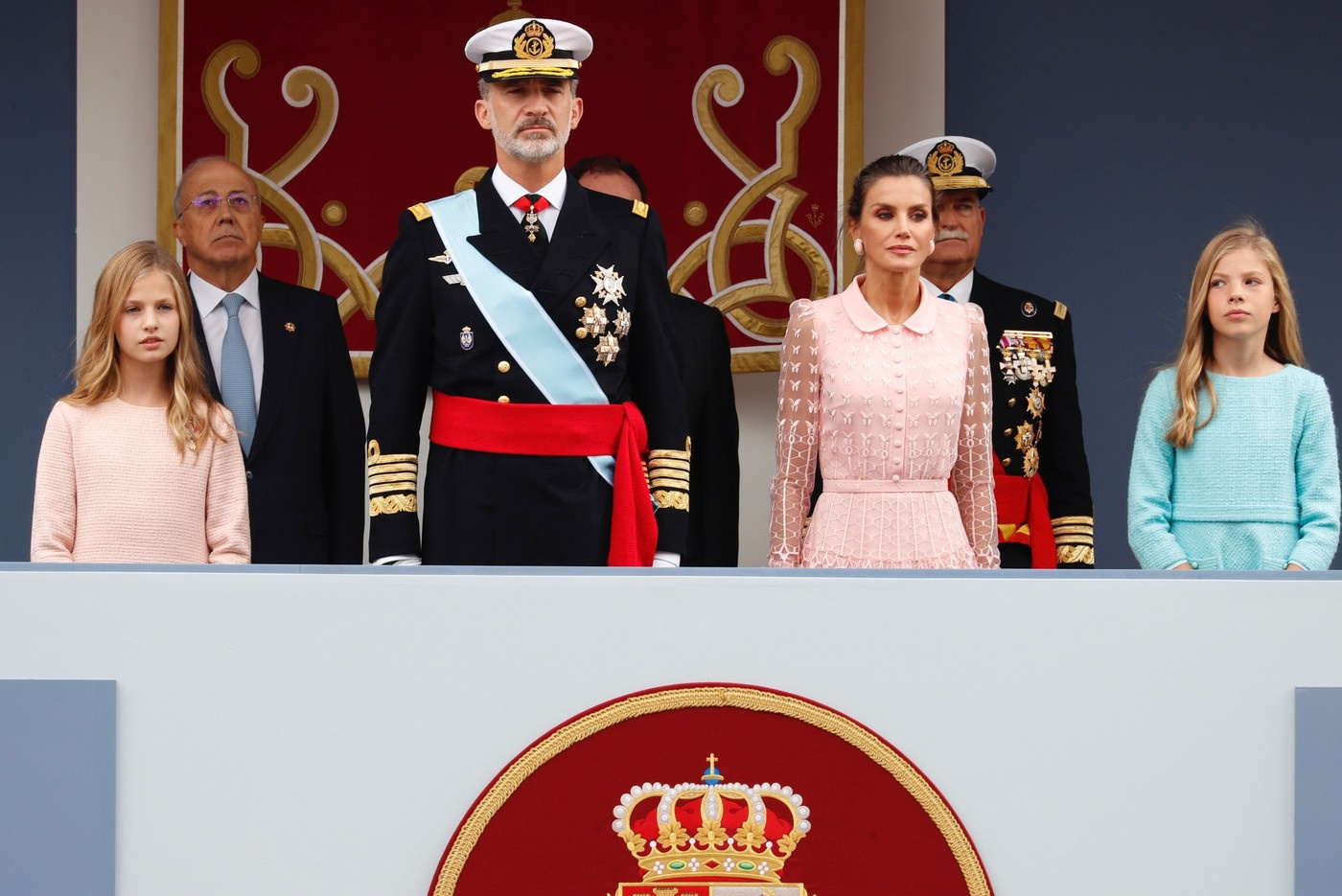 King Felipe and Queen Letizia at National Day Celebrations