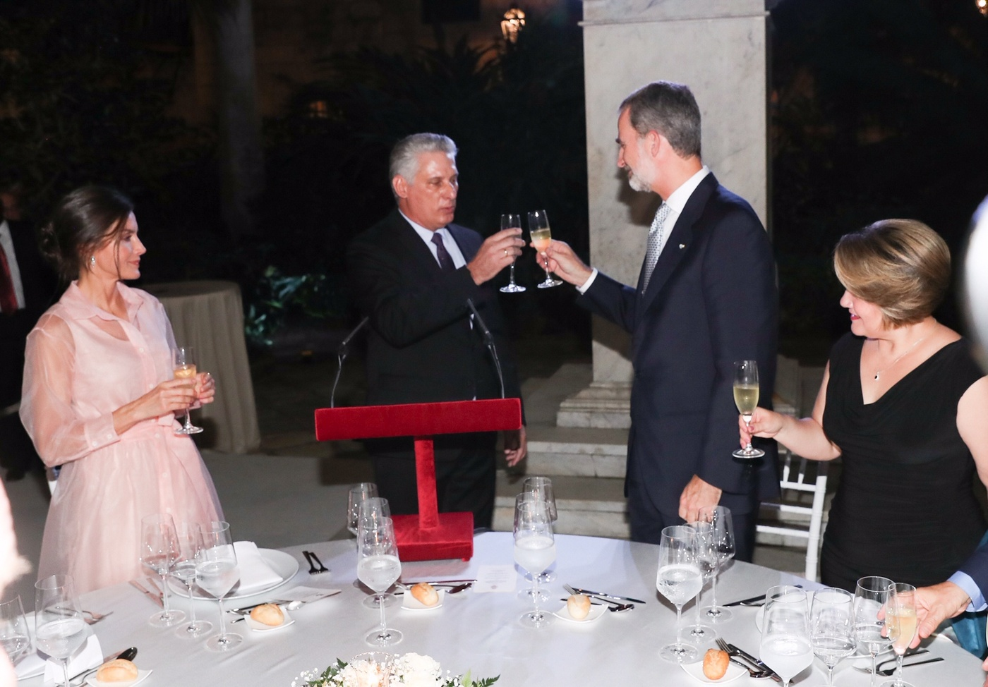 King Felipe and Queen Letizia hosted dinner for Cuban President and First Lady during Cuba State Visit