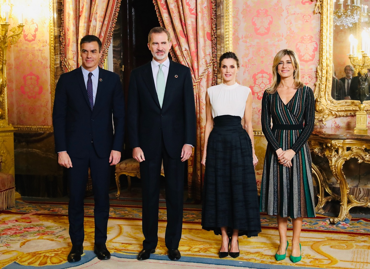 King Felipe and Queen Letizia of Spain hosted a reception for the United Nations Conference on Climate Change (COP25) attendees