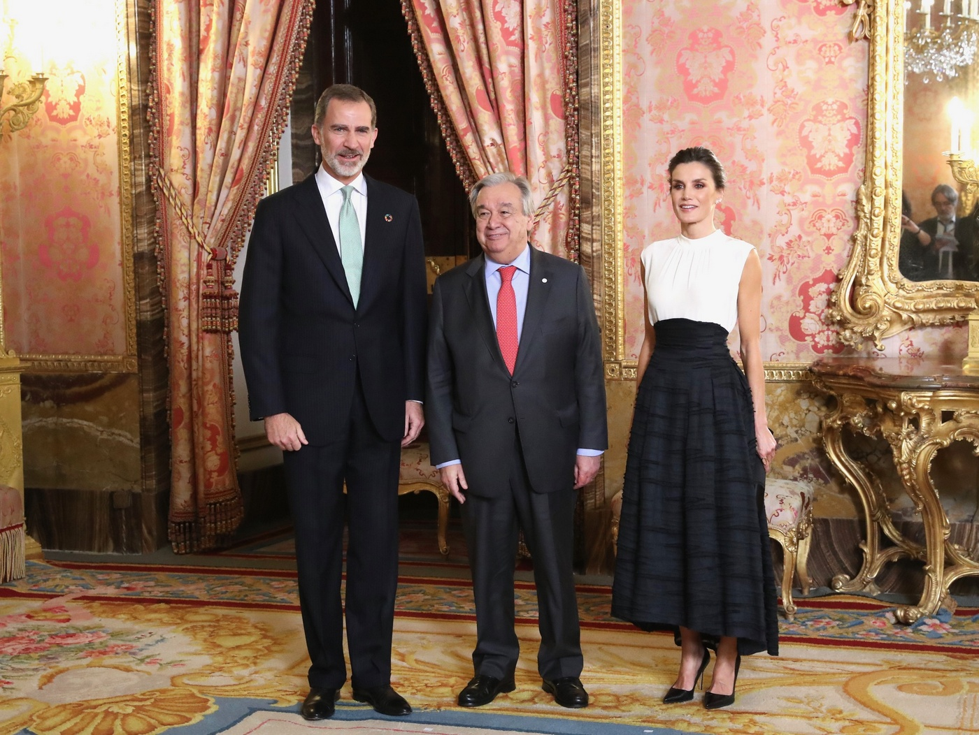 King Felipe and Queen Letizia of Spain hosted a reception for the United Nations Conference on Climate Change (COP25) atendees
