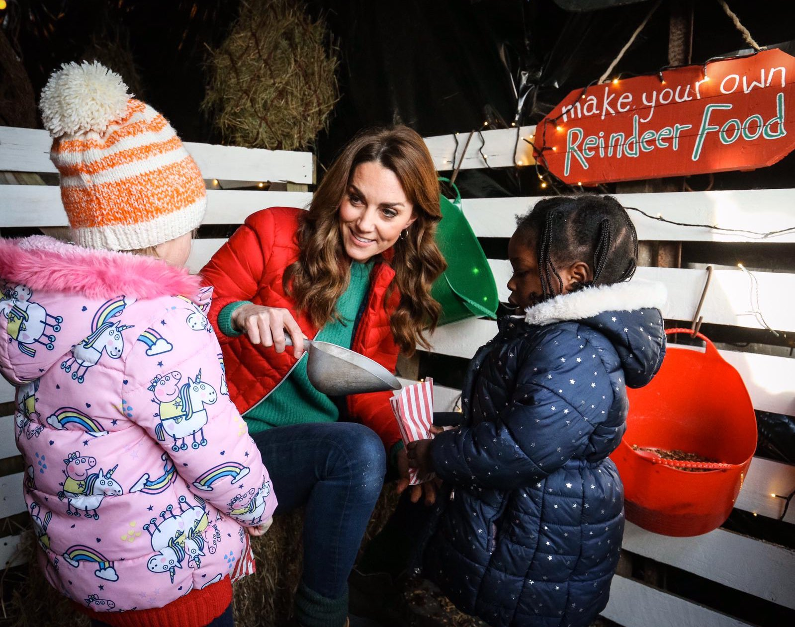 The Duchess of Cambrdge with school children at Family Action