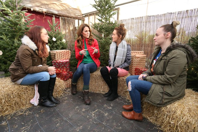 The Duchess of Cambridge met with families and parents at Family Action