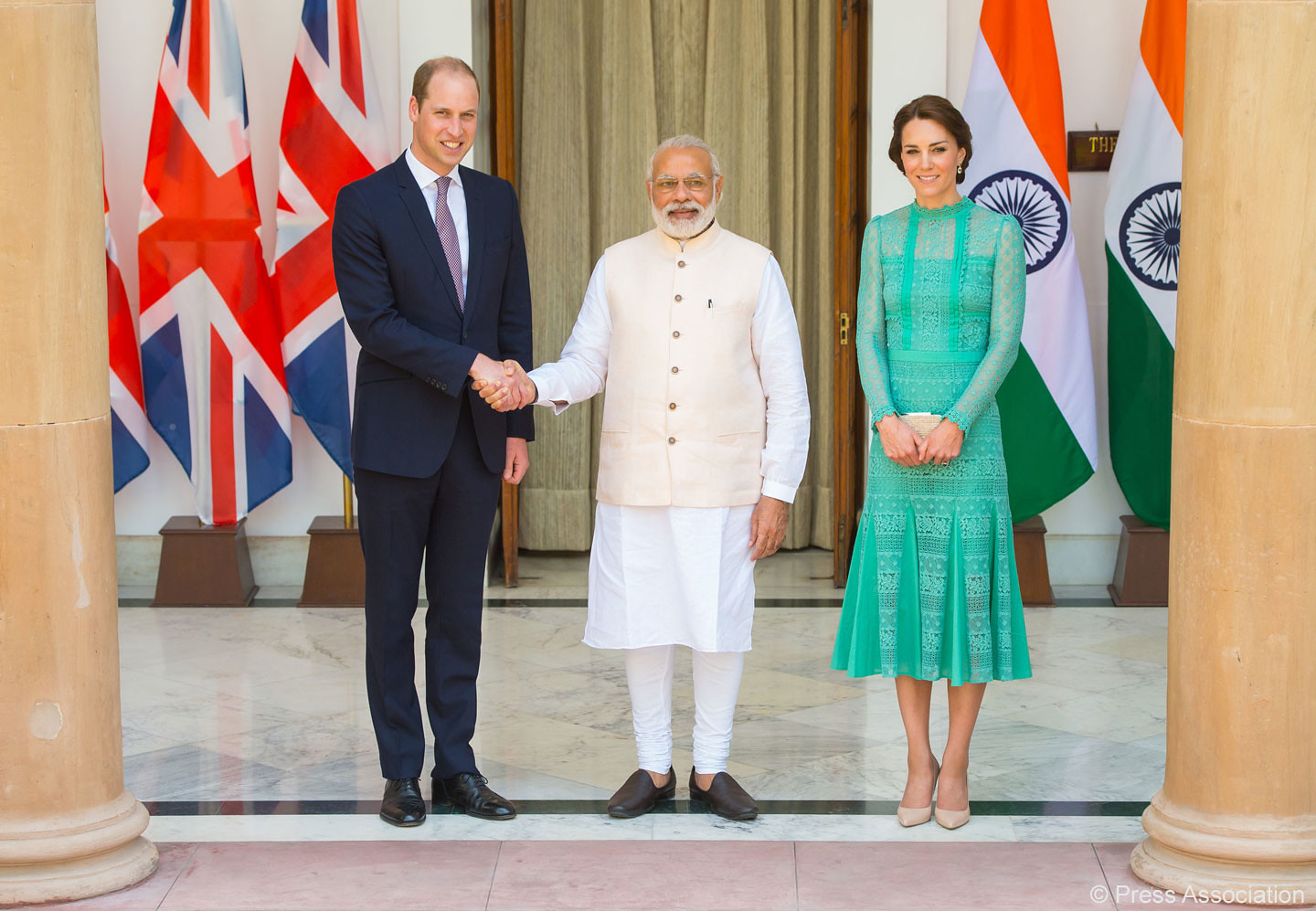 Duke and Duchess of Cambridge met with the Indian Prime Minister during India visit