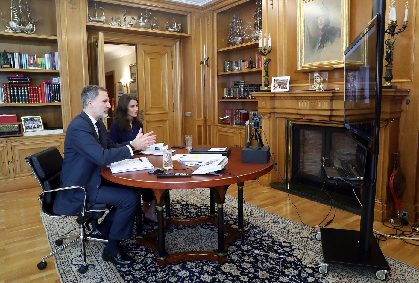 King Felipe and Queen Letizia in meeting with ANECOOP