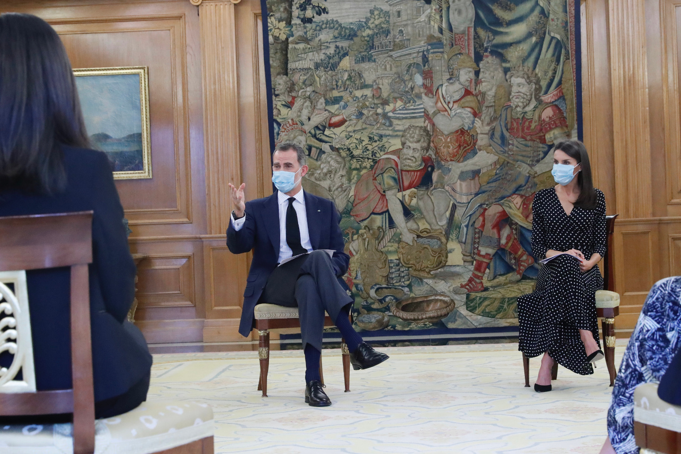 King Felipe and Queen Letizia received audience in three months