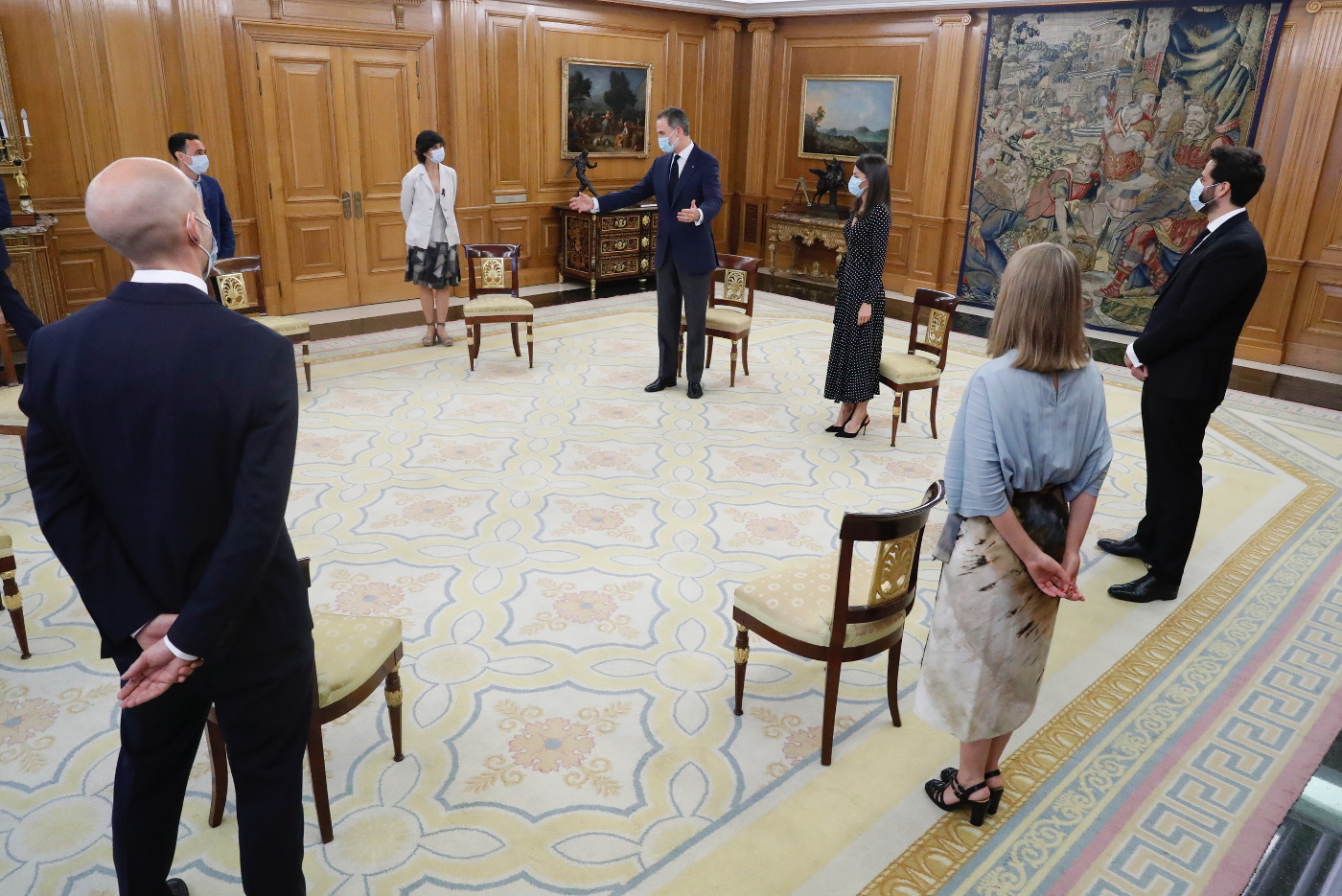King Felipe and Queen Letizia welcomed young innovators at the Palace