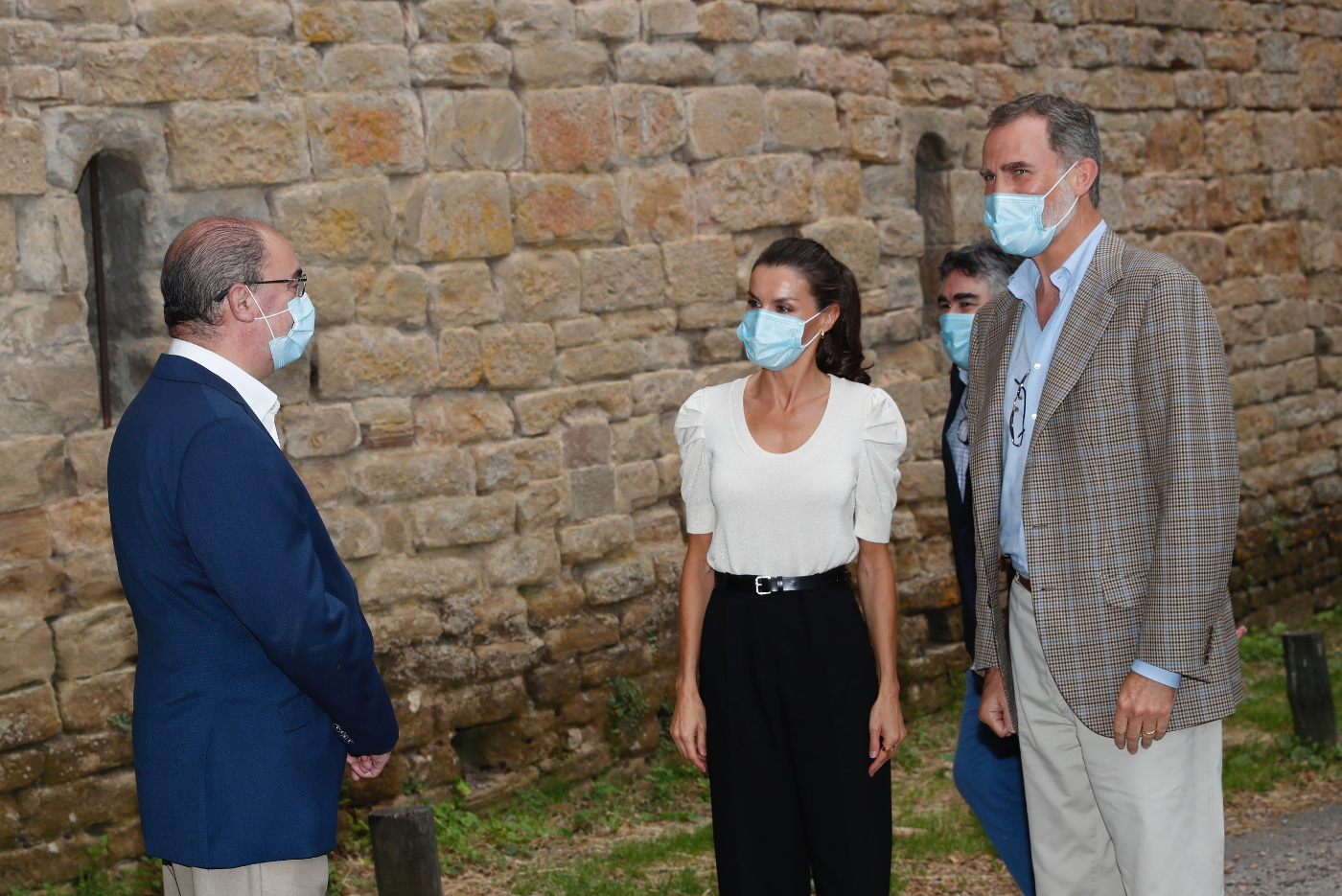 King Felipe and Queen Letizia of Spain visited Huesca