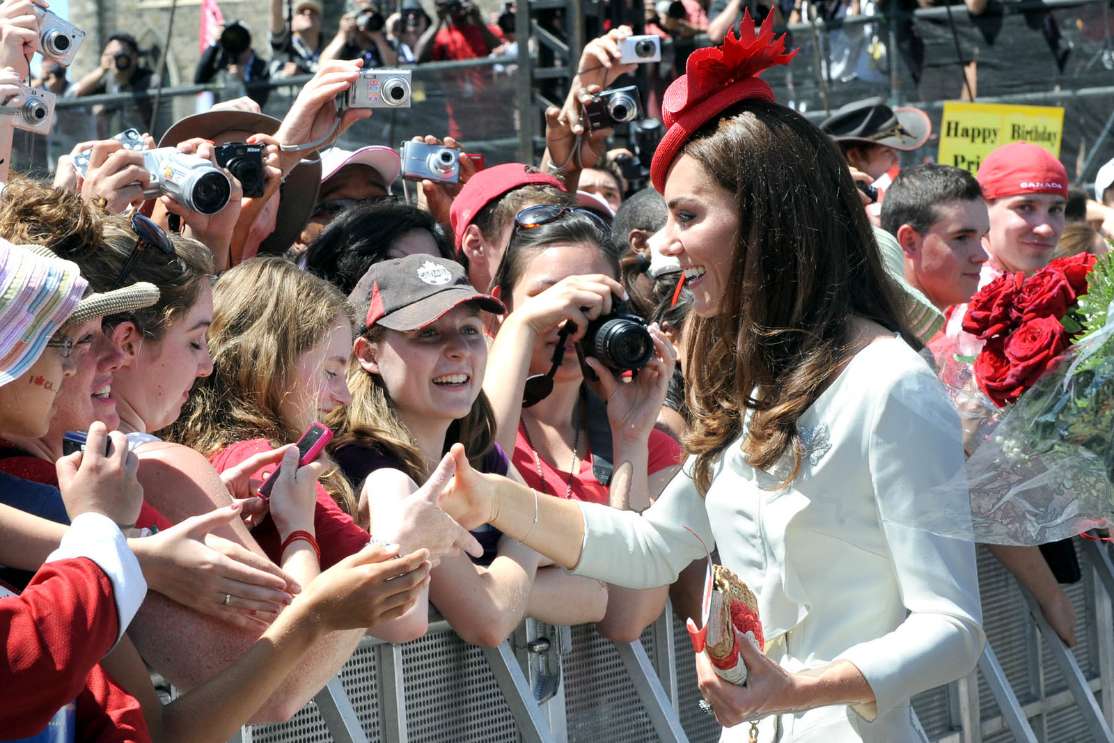 The Duchess of Cambridge meeting the public during the noon show on Canada day during royal tour in 2011
