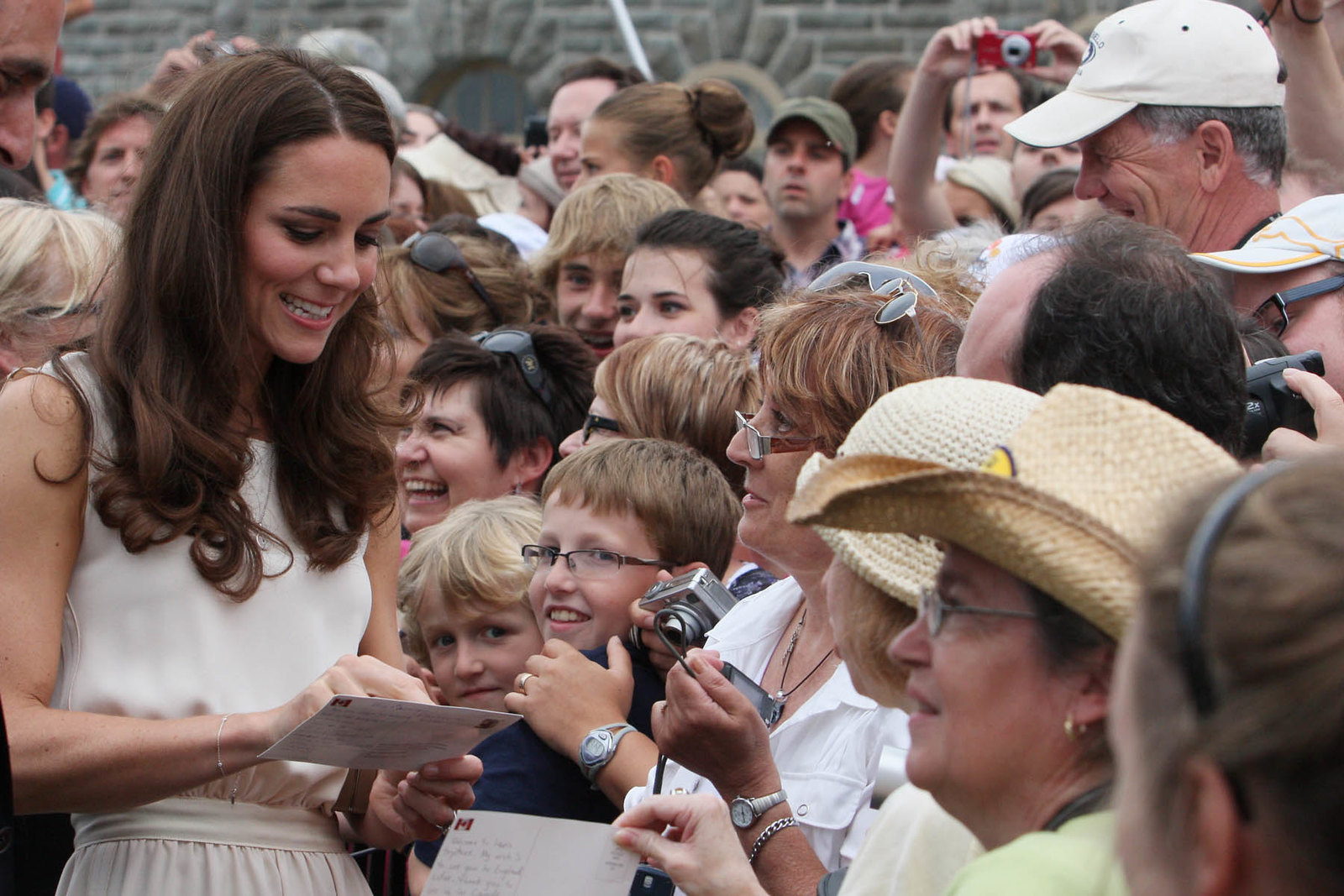 The Duchess of Cambridge met with the members of the public during the walkabout in Charlottetown