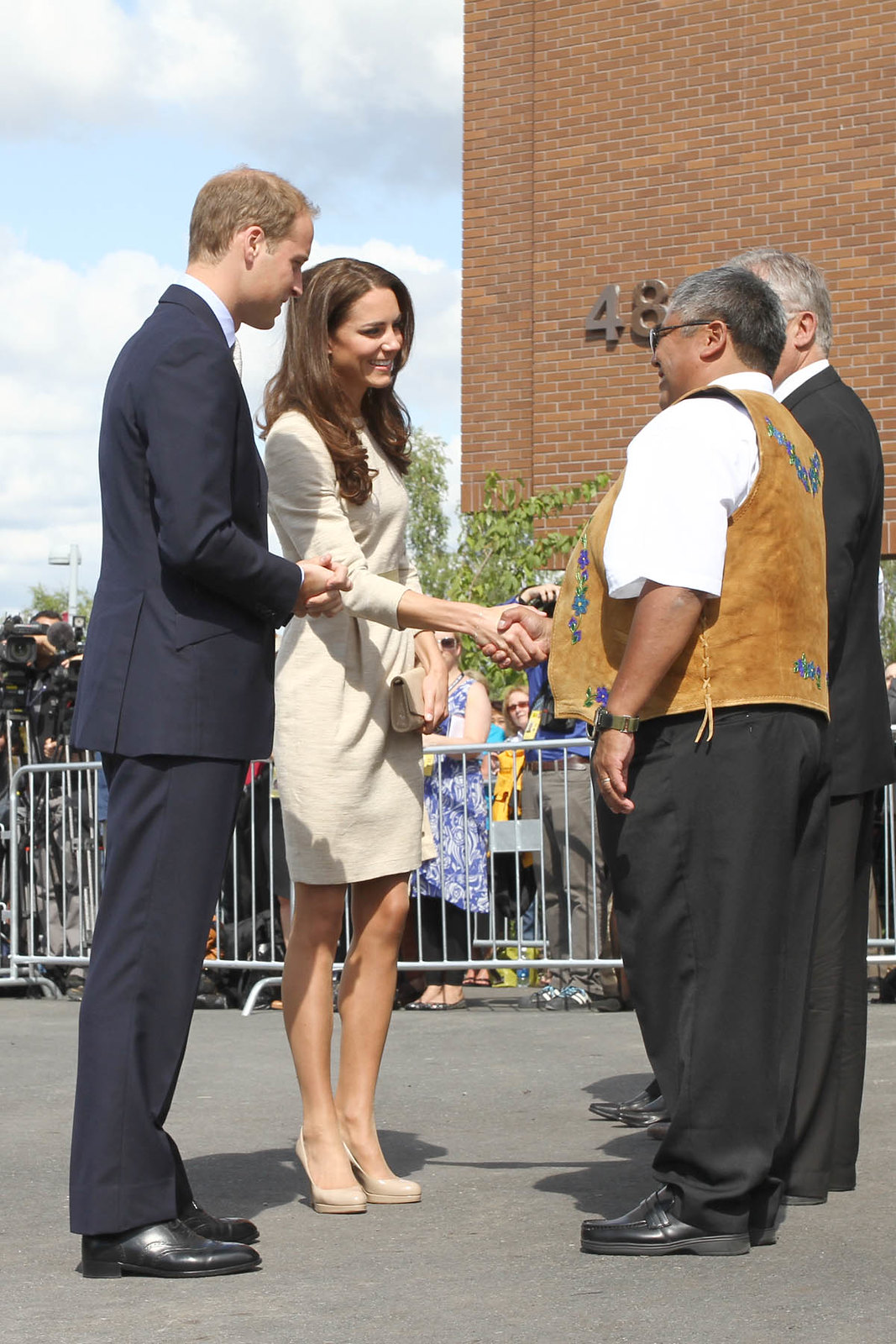 The Duchess of Cambridge wore Malene Birger Bullet Dress during northwest territories visit in Canada in 2011