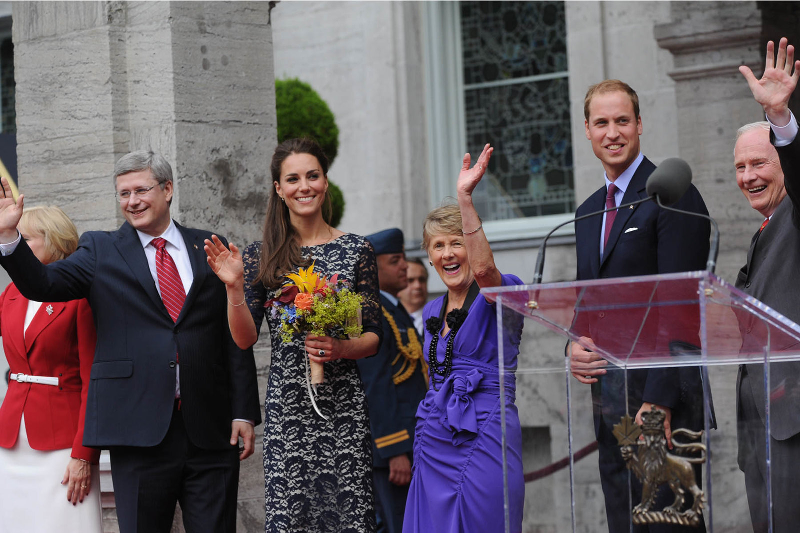 The Duke and Duchess of Cambridge at Rideau Hall in Ottawa during the Royal tour of Canada