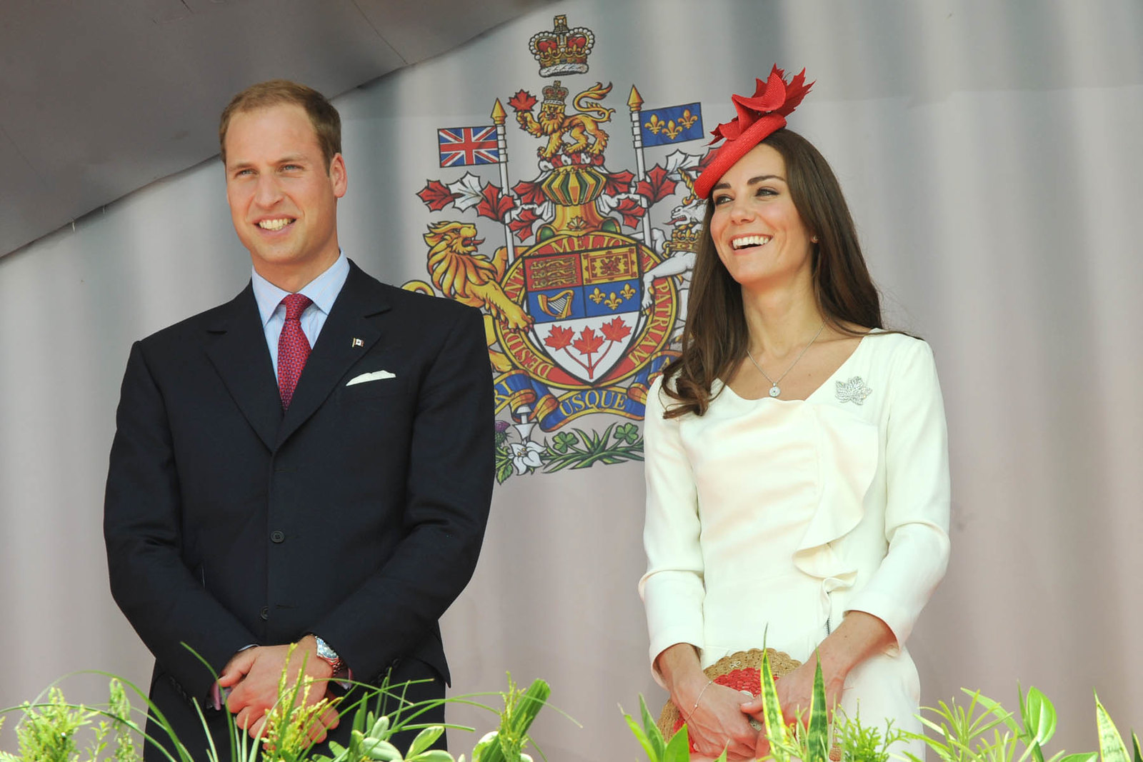 The Duke and Duchess of Cambridge attended a Noon show on Canada Day during Royal tour of Canada in 2011