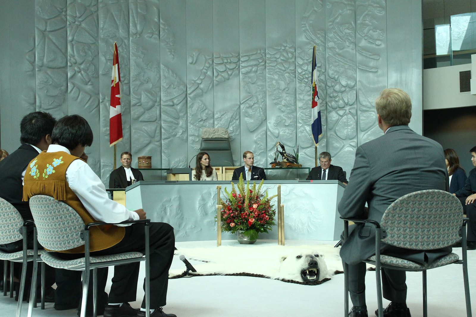 The Duke and Duchess of Cambridge attended a legislative assembly during Canada tour in 2011