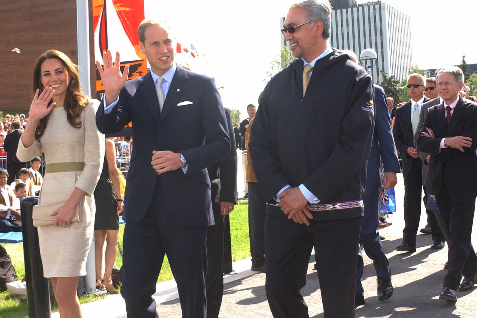 The Duke and Duchess of Cambridge in Yellowknife during Canada tour 2011