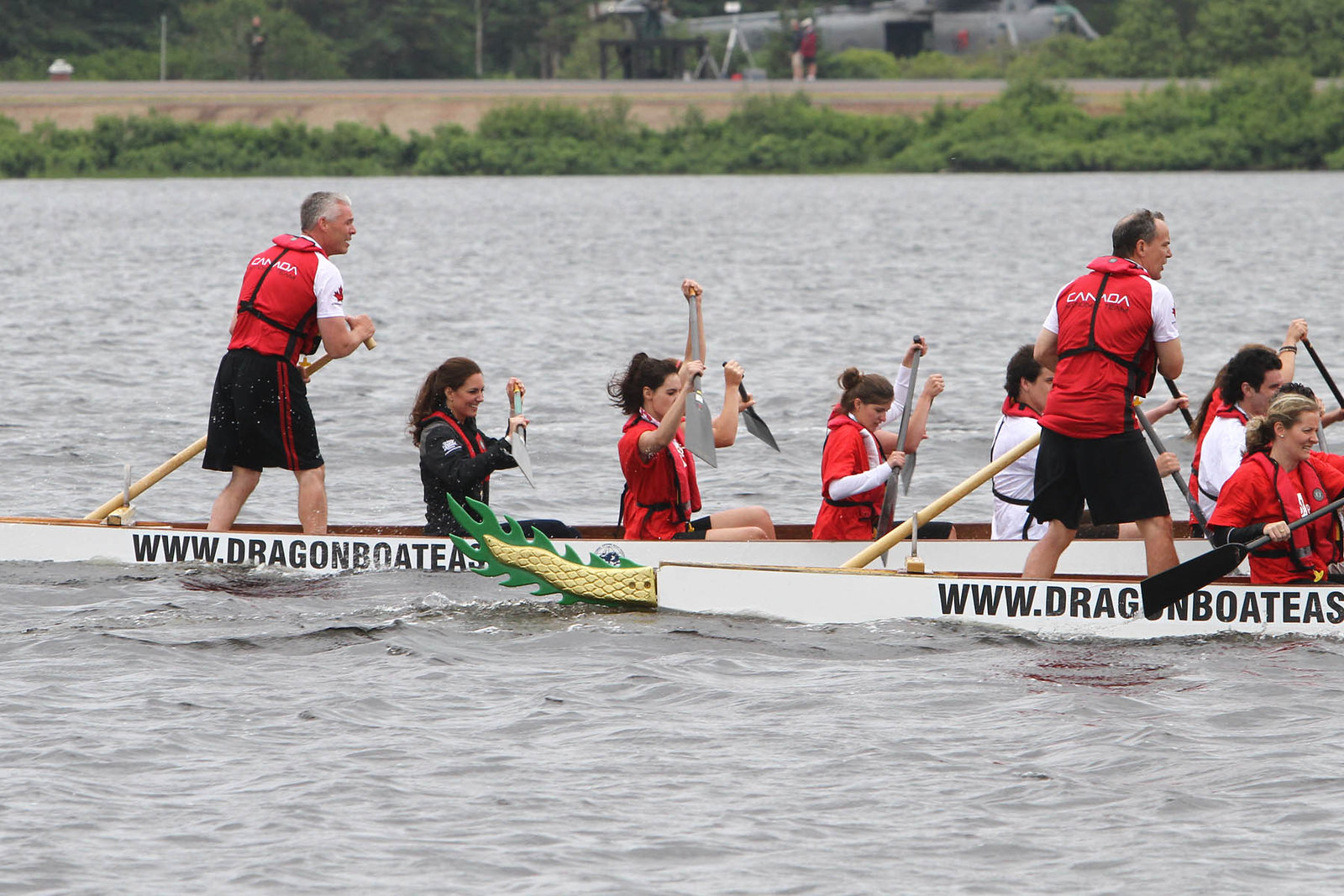 The Duke and Duchess of Cambridge participated in Dragon boat race during Canada tour 2011