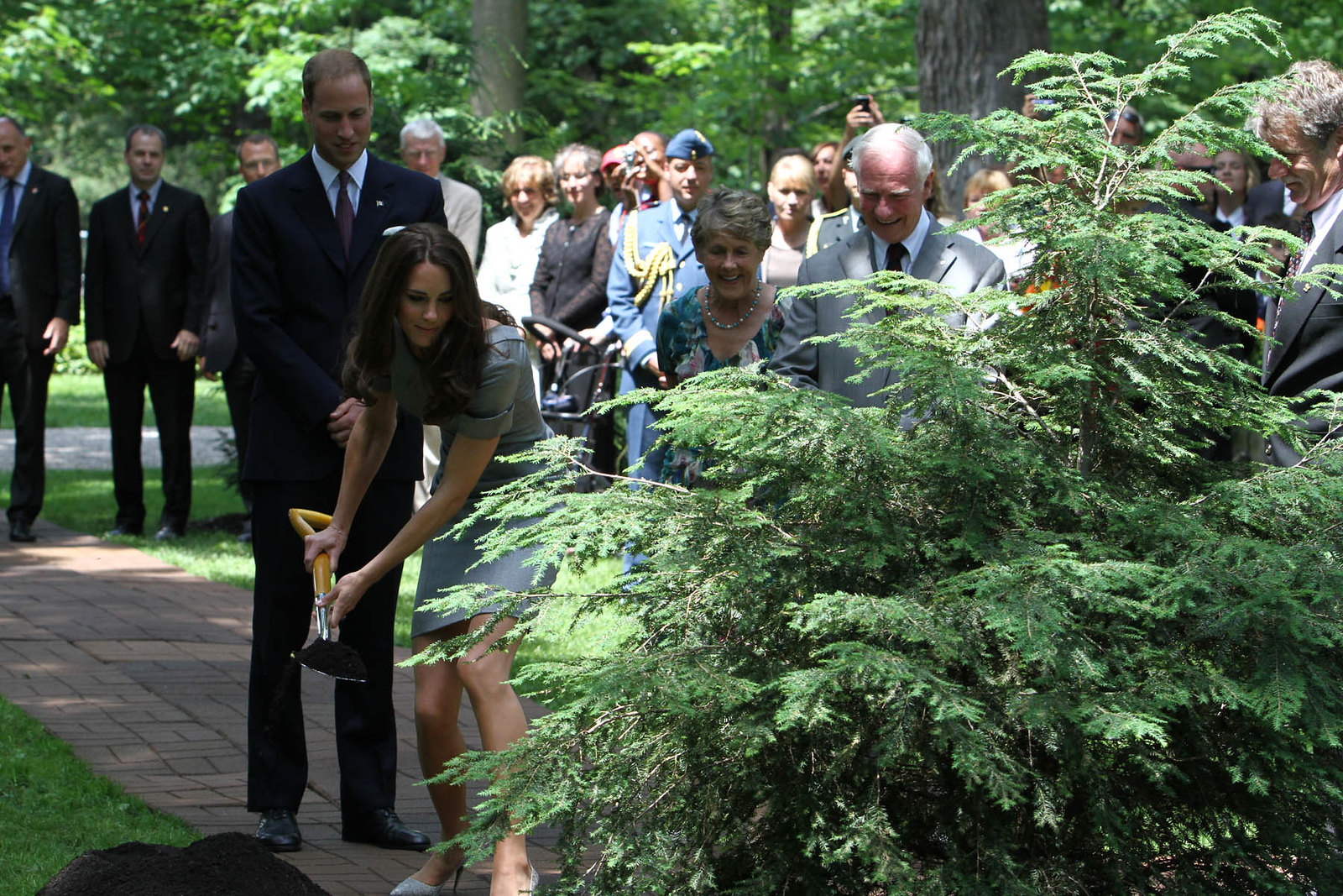 The Duke and Duchess of Cambridge planted a tree at Rideau hall