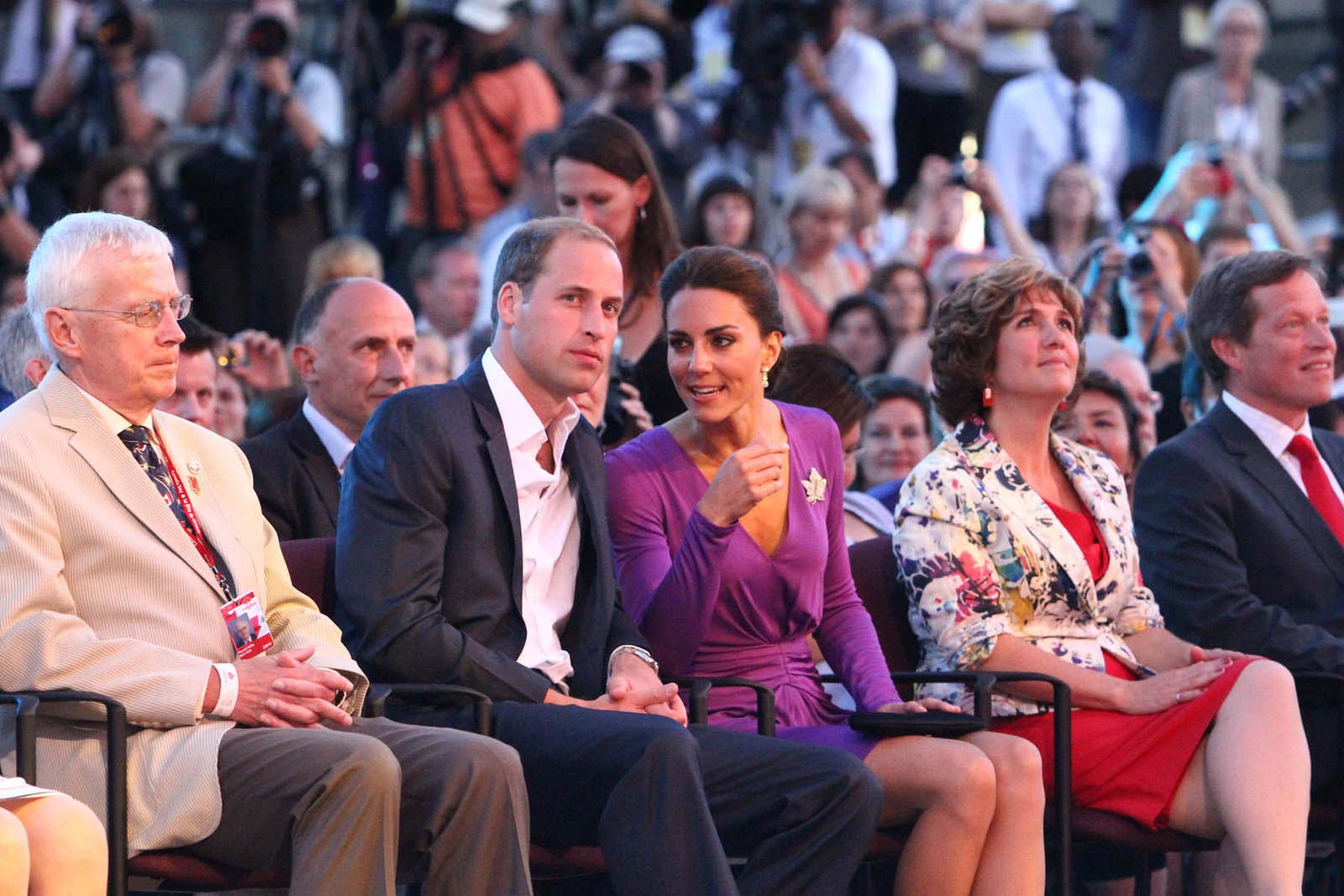 The Duke and Duchess of Cambridge watched fireworks at Canada Day during royal tour