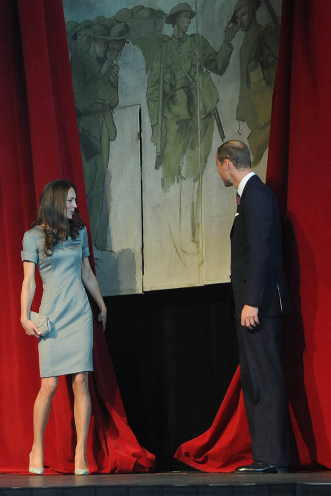 The Duke and Duchess of cambridge at the War Museum during Canada tour in 2011