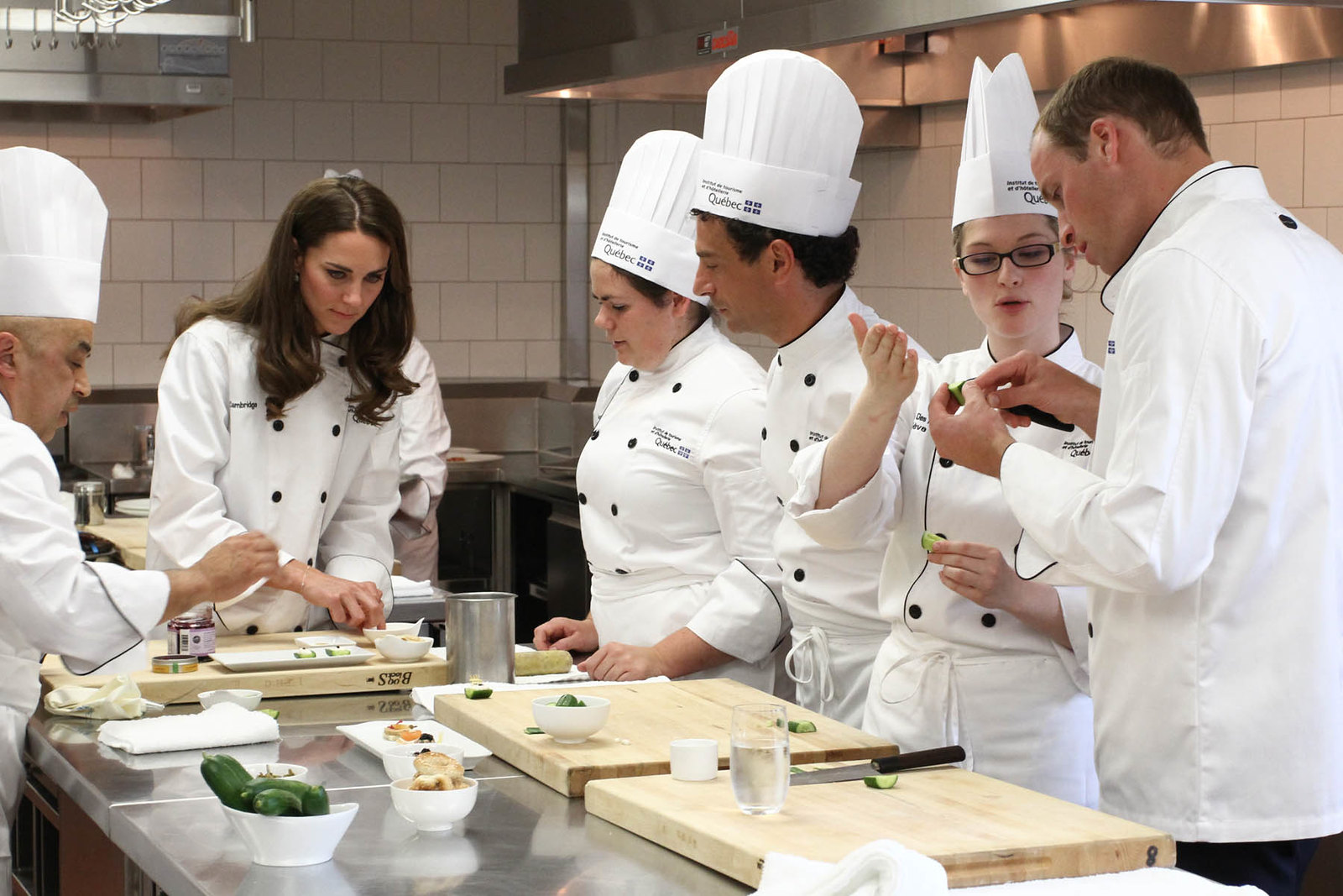 The Duke and Duchess of cambridge tried thier hand at culinary