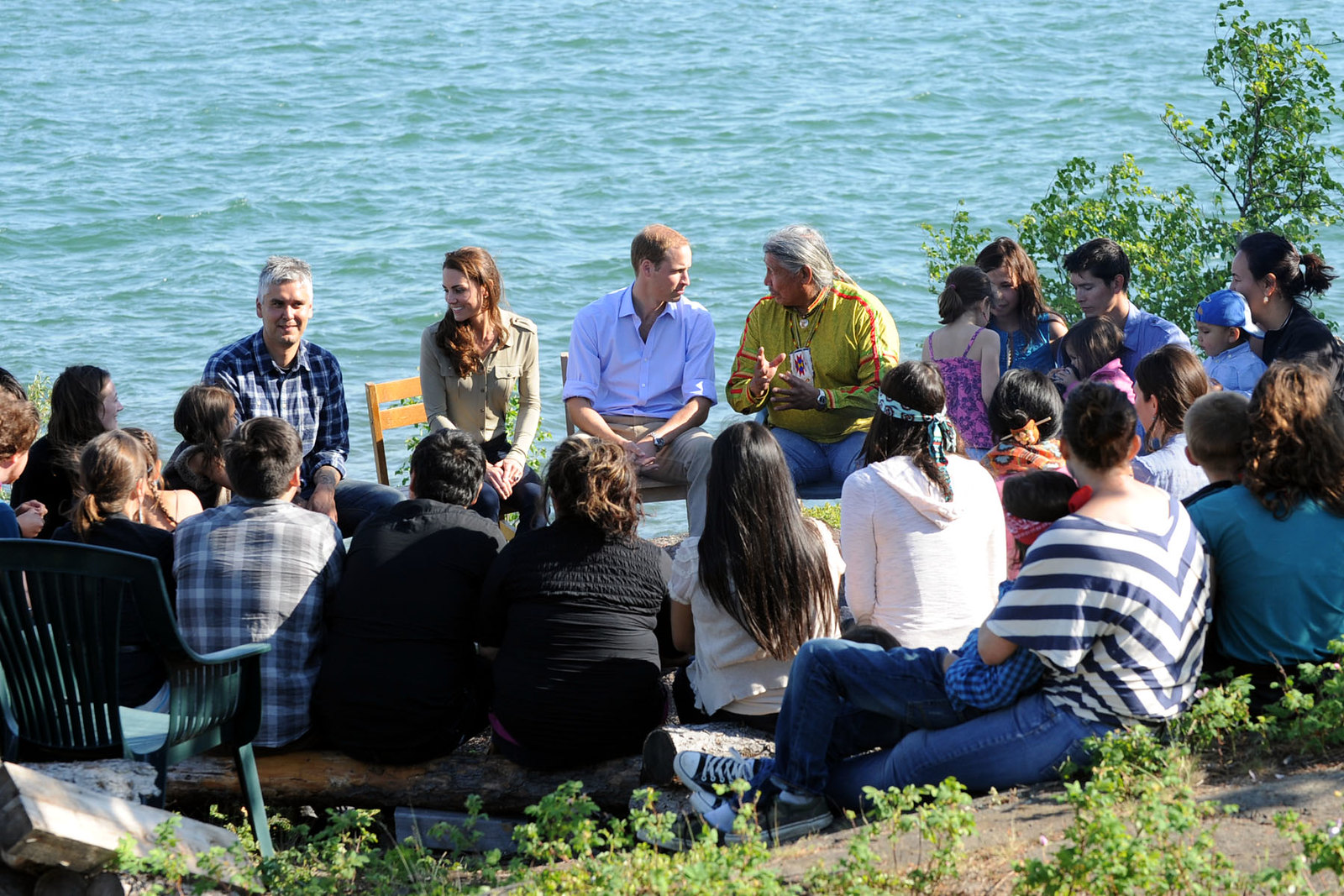The duke and duchess of cambridge met with seniors during Blachford lake visit in 2011